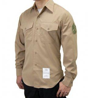 US.マリーン.階級章付、長袖ドレスシャツ(新品) MC-LS-NW