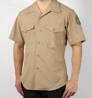 US.マリーン.階級章付半袖ドレスシャツ(新品) MC-SS-NW