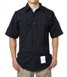 US.NAVY.リメイク半袖ブラックシャツ(新品) A15SN