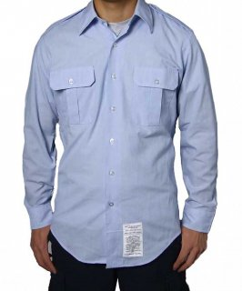 US.エアフォース.メンズ、長袖ドレスシャツ(USED)AF-LS-U