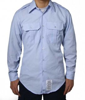 US.エアフォース.メンズ、長袖ドレスシャツ(新品)AF-LS-N