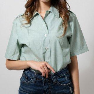 US.アーミー、タックイン半袖ドレスシャツ(USED)AMY-SS-LU