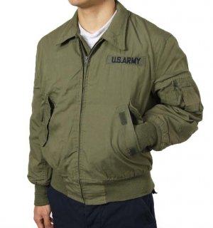 US.ヘリパイ、ワッペン付フライトジャケット(USED)A19UW
