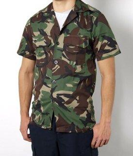 イギリス軍 カモフラージュ 半袖ファティーグシャツ(新品)B14N-