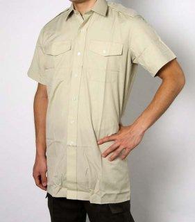 イギリス、カーキ、半袖ドレスシャツ(新品)B15N