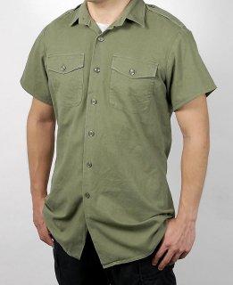 イギリス、OD.半袖フィールドシャツ(USED)B26SU-