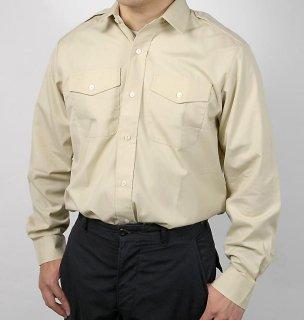 イギリス陸軍 ARMY カーキ 長袖ドレスシャツ(USED)B15LU
