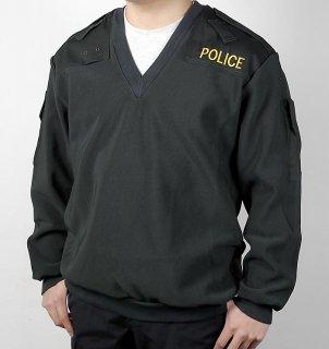 イギリス、ポリス.刺繍付Vネックジャケット(新品)B29NP