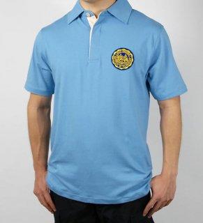 WEST VIRGINIA ブルーポロシャツ(新品)F88N