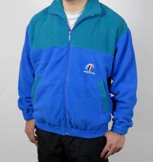 フランス、ブルー/グリーン、フリースジャケット(新品)F55N