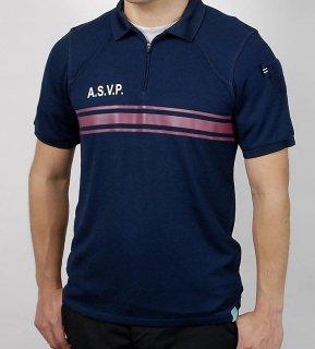フランス、ASVP.レッドライン、ポロシャツ(新品)F97N=