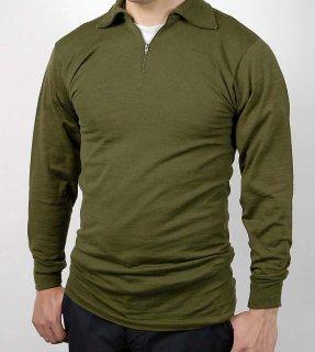 イタリア、OD.ハーフジップシャツ(新品)E41N-