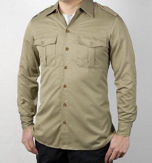 イタリア軍 カーキ フィールドシャツ(新品)E43N-