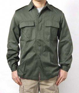 ベルギー、OD.ファティーグシャツ(新品)E83N