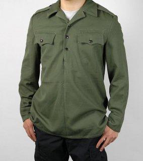 ブルガリア軍 OD 3ボタンシャツ(新品)E82N