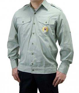 チェコ、ライトグリーン、エンブロイシャツ(新品)E98N