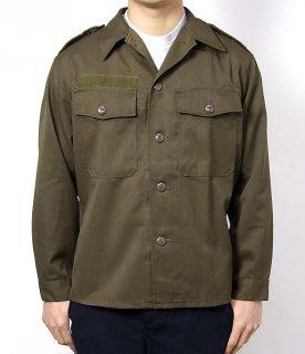 オーストリア、ブラウン、厚手ファティーグシャツ(USED) E74U