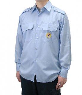 チェコ、ライトブルー、エンブロイシャツ(新品)E98NB