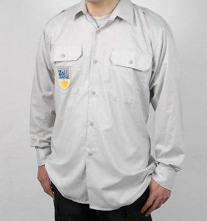 オーストリア、グレー、長袖シャツ(新品)E81N
