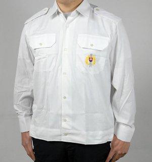 チェコ、ホワイト刺繍入りシャツ(新品)E99NS