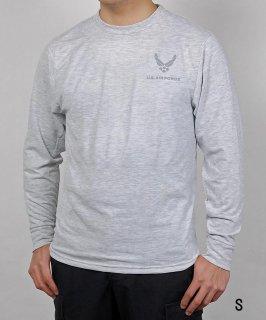 アメリカ空軍 USAF グレー 長袖Tシャツ(新品)T53LN-