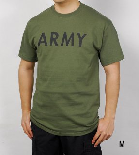 US.OD.ARMY.Tシャツ(新品)アーミー横文字 T41GIA