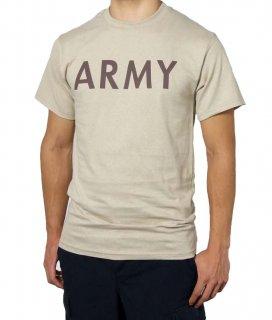 U.S.ARMY サンド SOFFE ミリタリーTシャツ(新品)アーミー横文字 T44NA-