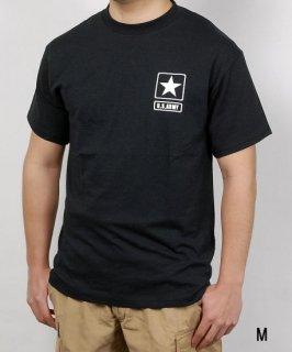 U.S.ARMY ブラック SOFFE ミリタリーTシャツ(新品)アーミーロゴ T56NA-