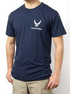 U.S.AIR FORCE ネイビー SOFFE ミリタリーTシャツ(新品)T46NF-