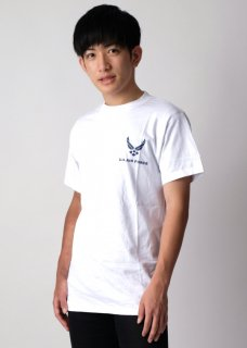 アメリカ空軍 USAF ホワイト Tシャツ(新品)T55NF