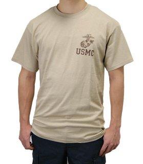U.S.M.C. サンド SOFFE ミリタリーTシャツ(新品)T44NM-