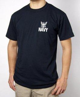 U.S.NAVY ブラック SOFFE ミリタリーTシャツ(新品)T56NV-