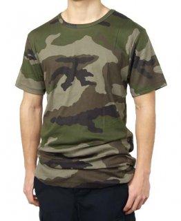 フランス軍 PETIT BATEAU/プチバトー CCE カモフラージュ Tシャツ(新品)T86N
