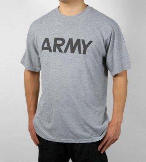アメリカ軍 U.S.ARMY グレー IPFU トレーニング Tシャツ(新品)T45N-