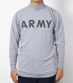 アメリカ軍 U.S.ARMY グレー IPFU トレーニング ロングTシャツ(USED)T45LU-
