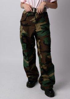 【スモール特価】アメリカ軍 ウッドランドカモ M65 フィールドパンツ(新品)133N-SB