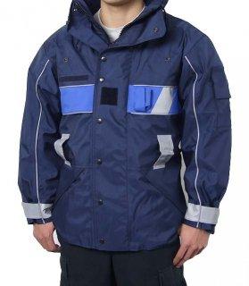 ビッグ特価、FR.ネービー、ベルトループ付ポリスジャケット(新品) F70NB-SB