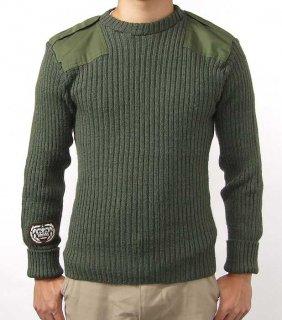 イギリス、OD.ワッペン付コマンドセーター(USED)S11UW