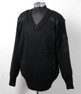 UK.ブラック、プリズンセーター(新品)S24N