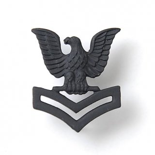 US.NAVY.ブラック襟章(新品)17NC