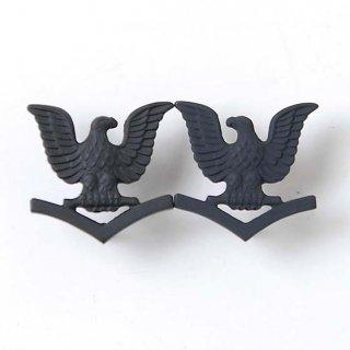 US.NAVY.ブラック襟章(新品)17NE