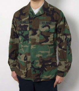アメリカ軍 ウッドランドカモ コンバットジャケット ワッペン付(USED)A2CUW=