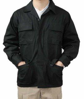 アメリカ軍 ブラック リップストップ コンバットジャケット(新品)A1BN=