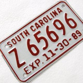 サウスカロライナ州、バイク、ライセンスプレート(新品)204