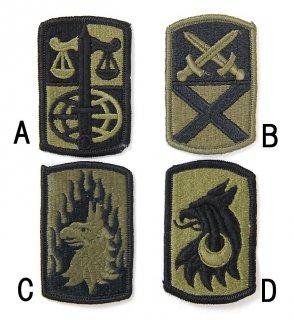 US.OD.部隊章ワッペン(新品)2 BRANCH-GN2