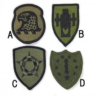 US.OD.部隊章ワッペン(新品)3 BRANCH-GN3