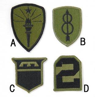 US.OD.部隊章ワッペン(新品)4 BRANCH-GN4