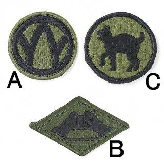 US.OD.部隊章ワッペン(新品)5A BRANCH-GN5A