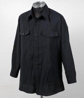 US.NAVY.ブラックシャツ(USED)A15U=