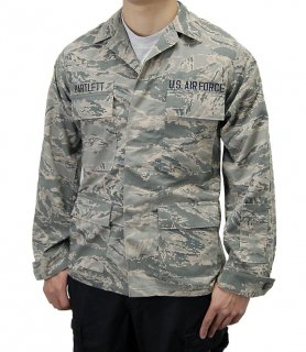 アメリカ空軍 USAF デジタルタイガー リップストップ ABUジャケット ワッペン付(USED)A4URW=